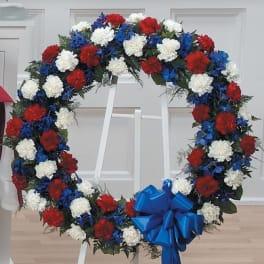 Patriotic Wreath Standing Easel