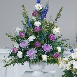 Lovely Lavender Pedestal Arrangement