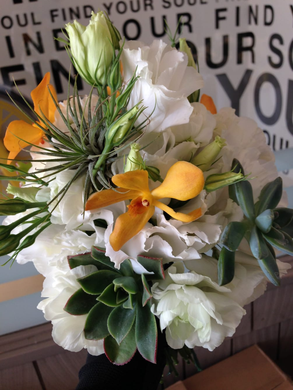 Air Plant Wedding Bouquet By Flowers With Love