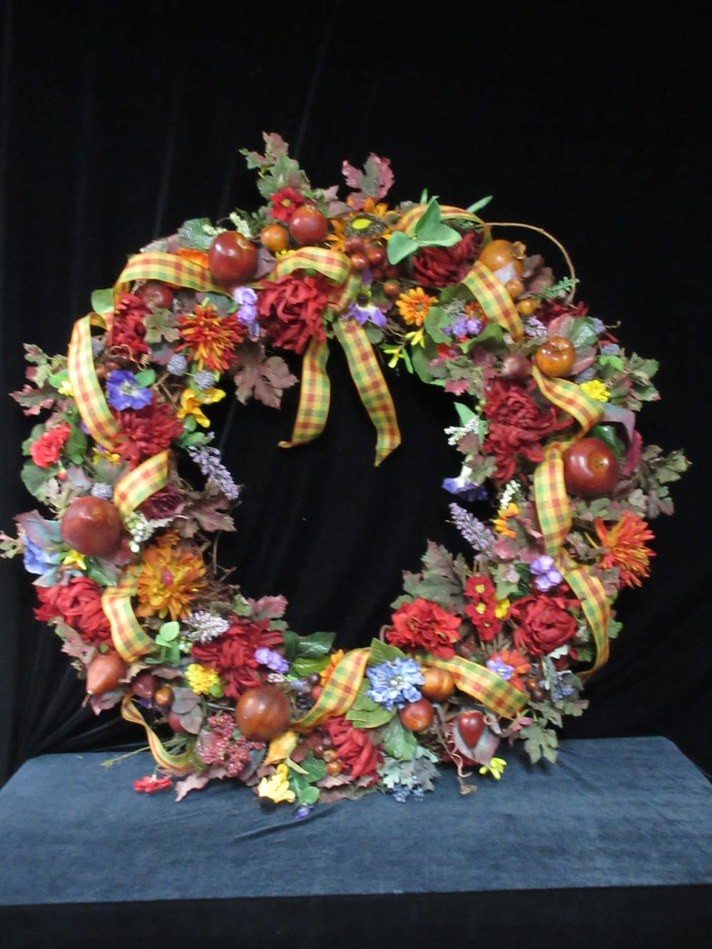 Fall Grapevine Wreath By The Flower Box