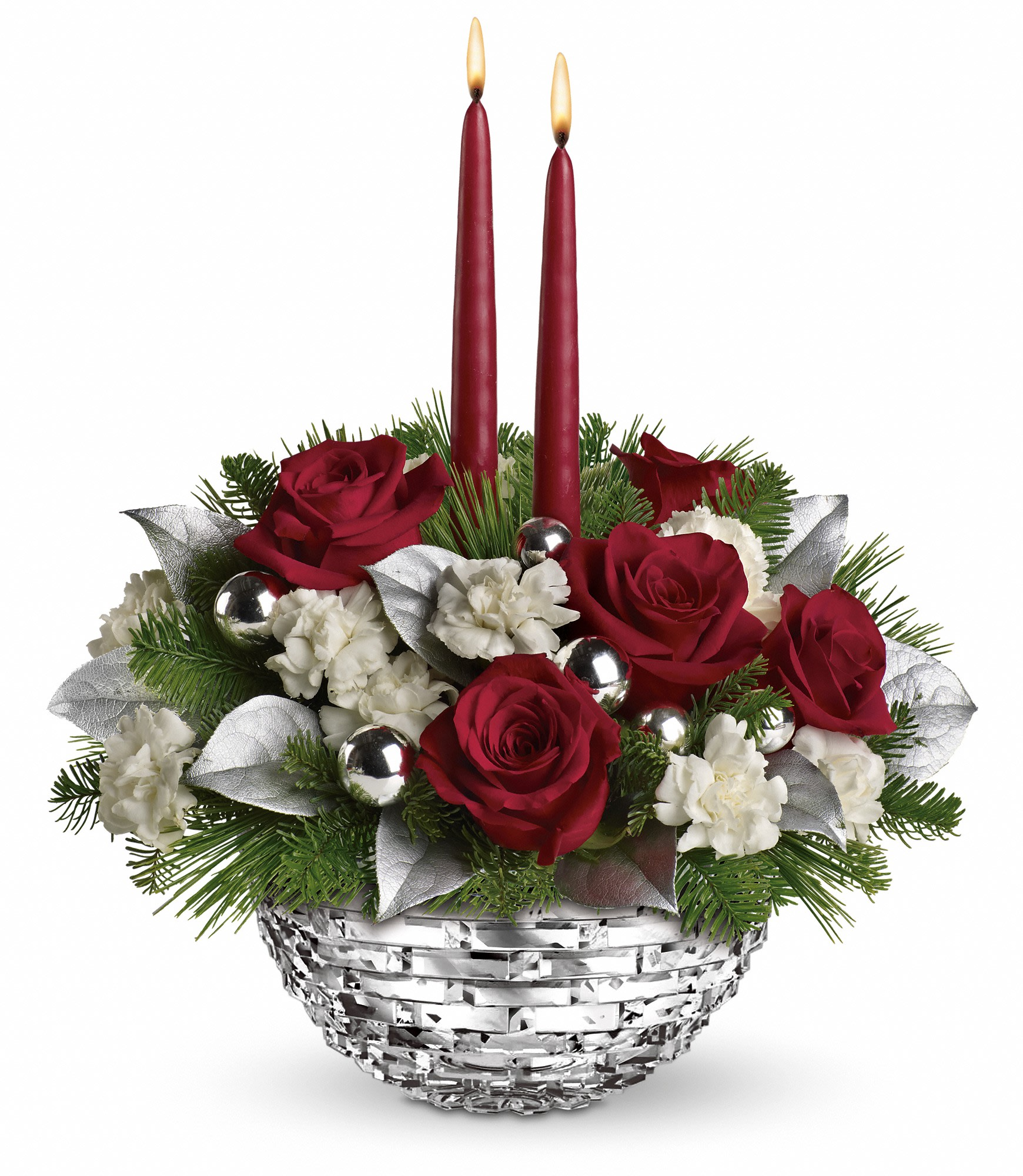 Teleflora Christmas 2020 Teleflora's Sparkle of Christmas Centerpiece in San Jacinto, CA