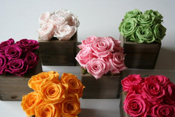 Eternity Rose Arrangement in Chic Box in Metuchen, NJ | Gardenias Floral