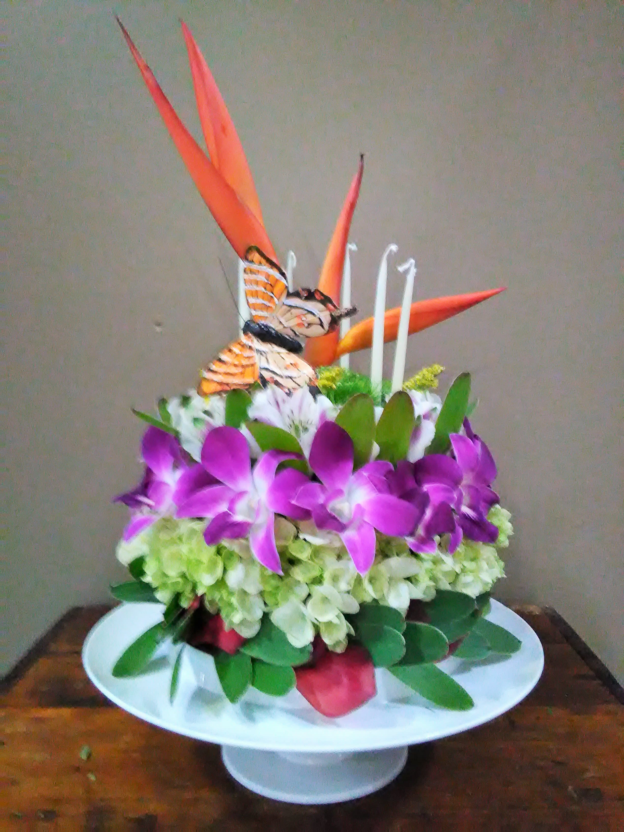 Tropical Birthday Cake (with Pedestal and Box) in Melbourne, FL ...