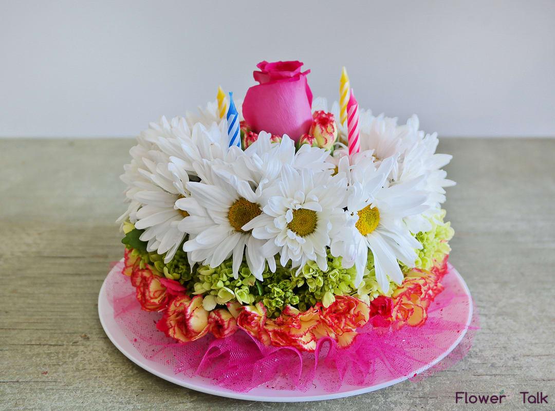 Flower Birthday Cake By Talk