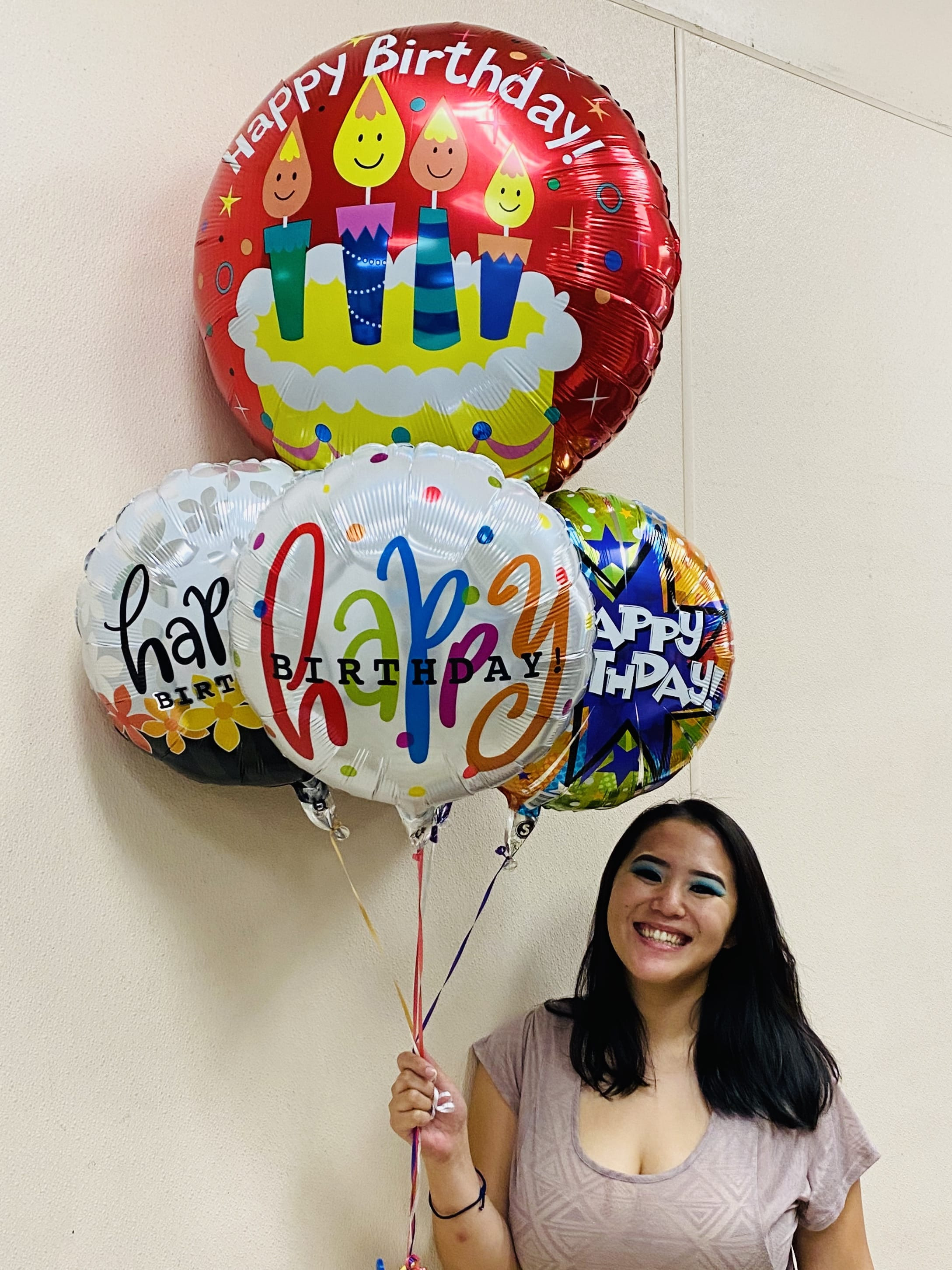 Happy Birthday Balloon Bouquet In Honolulu Hi Watanabe Floral Inc
