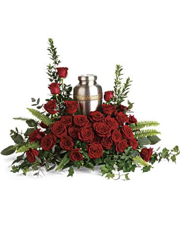 One True Love Cremation Urn Arrangement In Studio City Ca Dee S Flowers