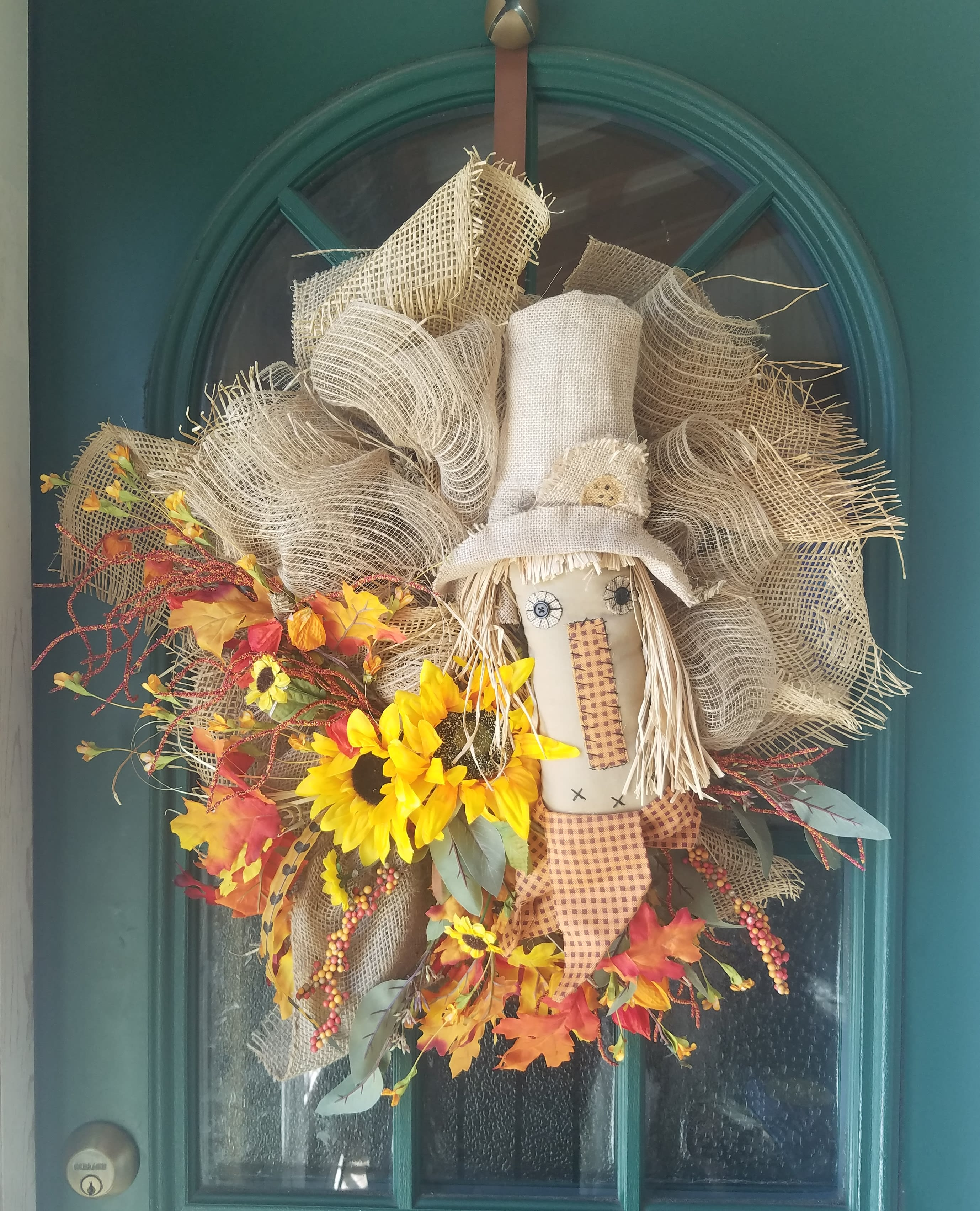 Ragtag Scarecrow Wreath In Fort Knox Ky Petals And Blooms Fort Knox Ky Flower Shop