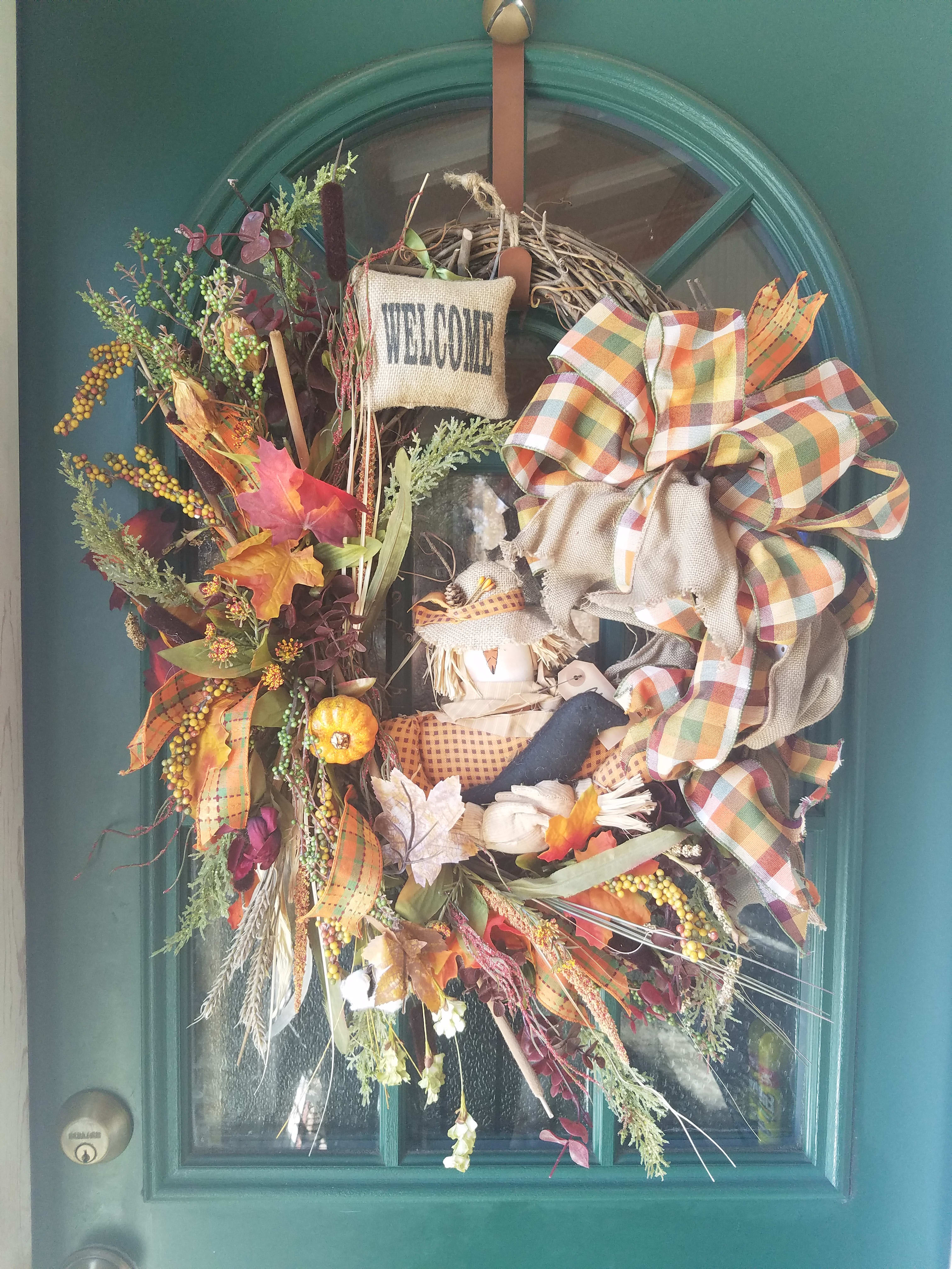 Welcome Scarecrow Wreath In Fort Knox Ky Petals And Blooms Fort Knox Ky Flower Shop