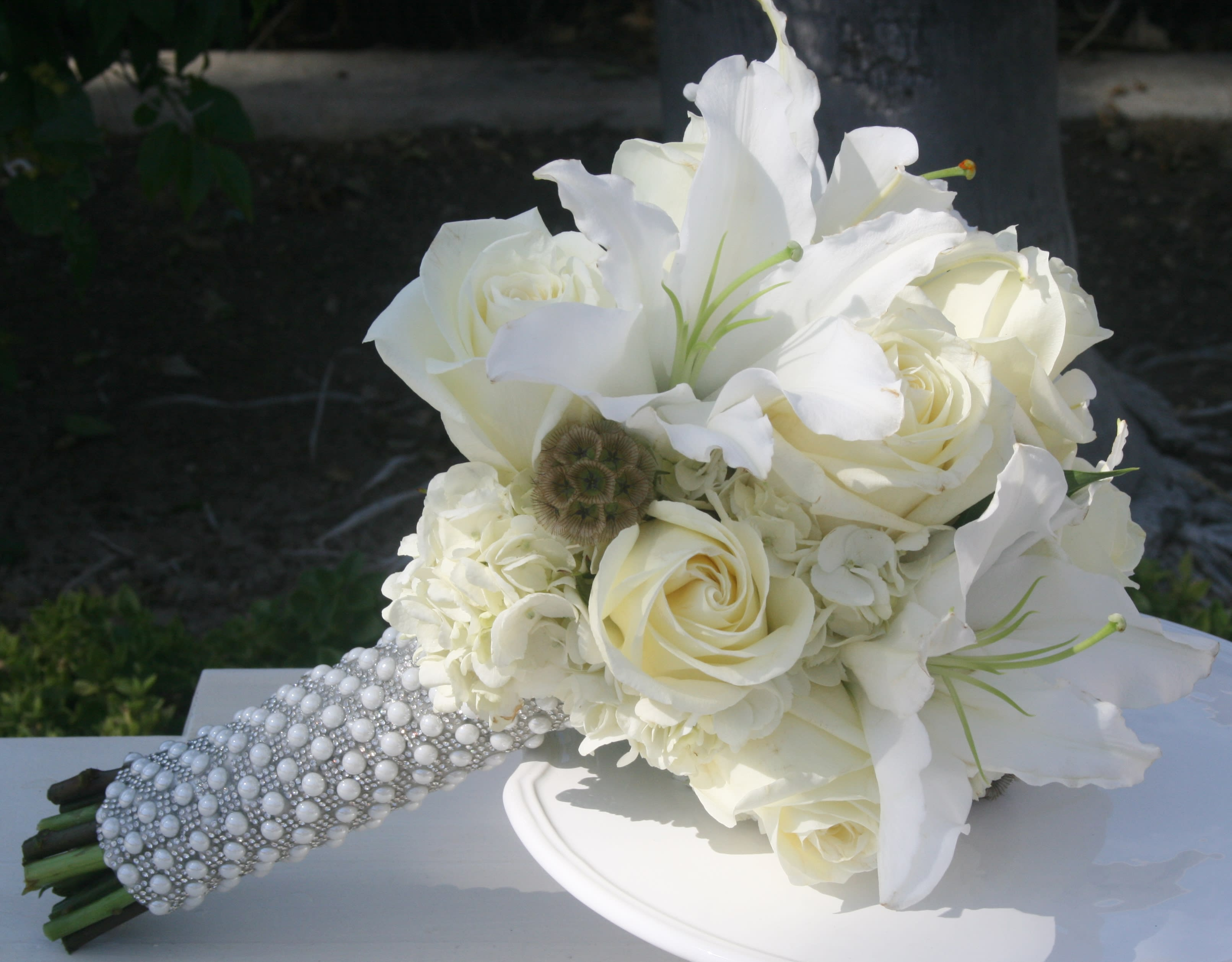 Wonderfully White Bridal Bouquet In Riverside Ca Willow Branch Florist Of Riverside