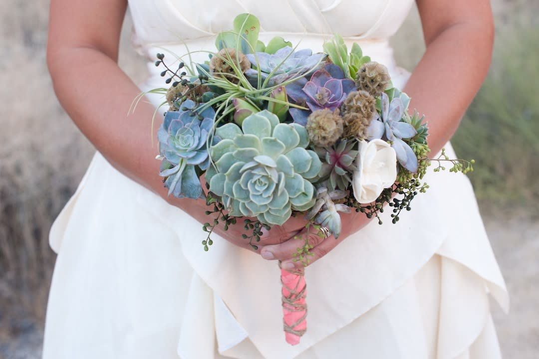 Succulent Bridal Bouquet In Huntington Beach Ca Devynn S Garden