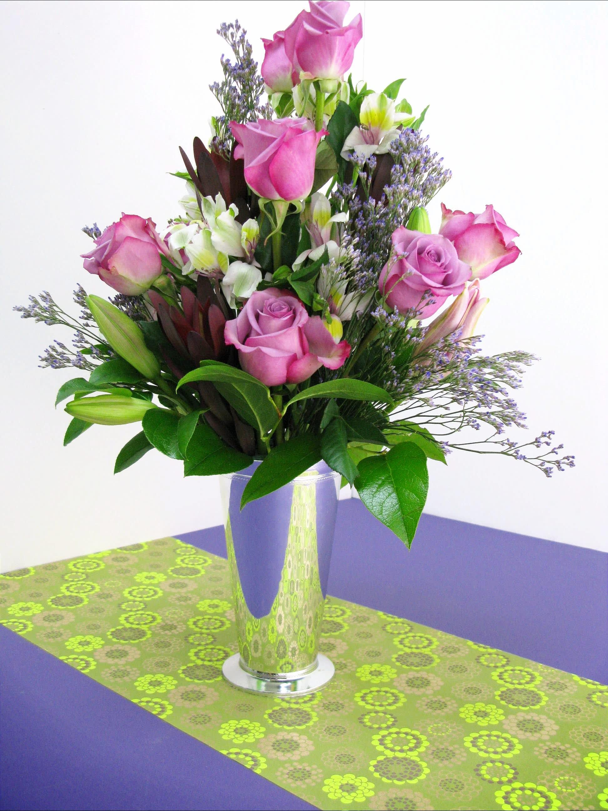 Purple Roses Bouquet In Miami Fl Yosvi