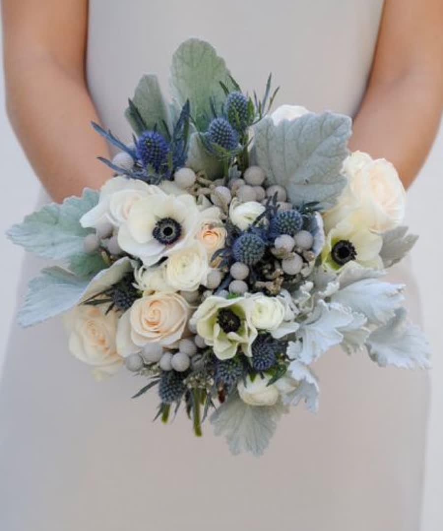 Dusty Blue Bridal Bouquet In Las Vegas Nv Vip Floral Designs