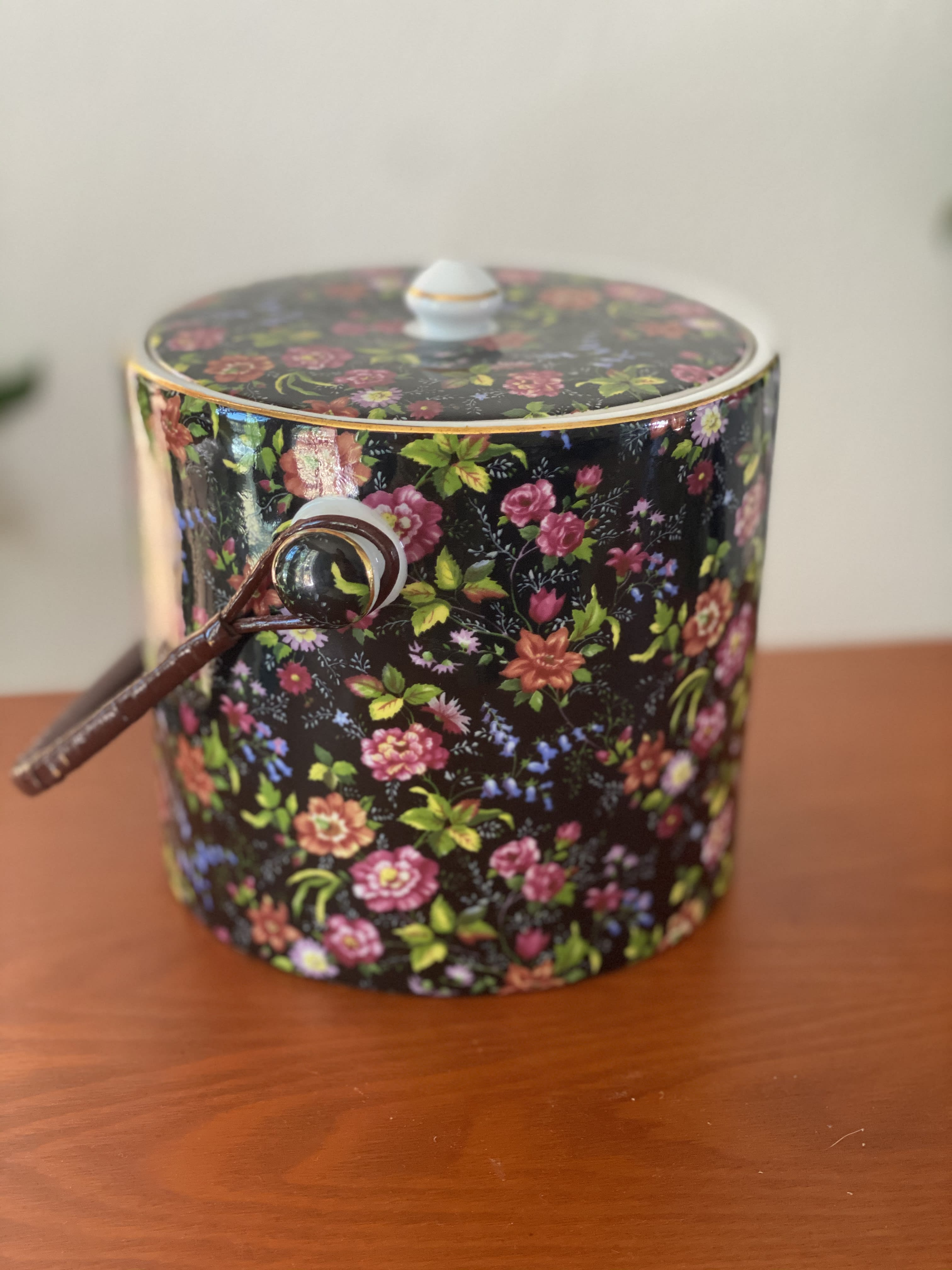 Floral Ice Bucket In San Clemente Ca Smoke Willow Botanical Design