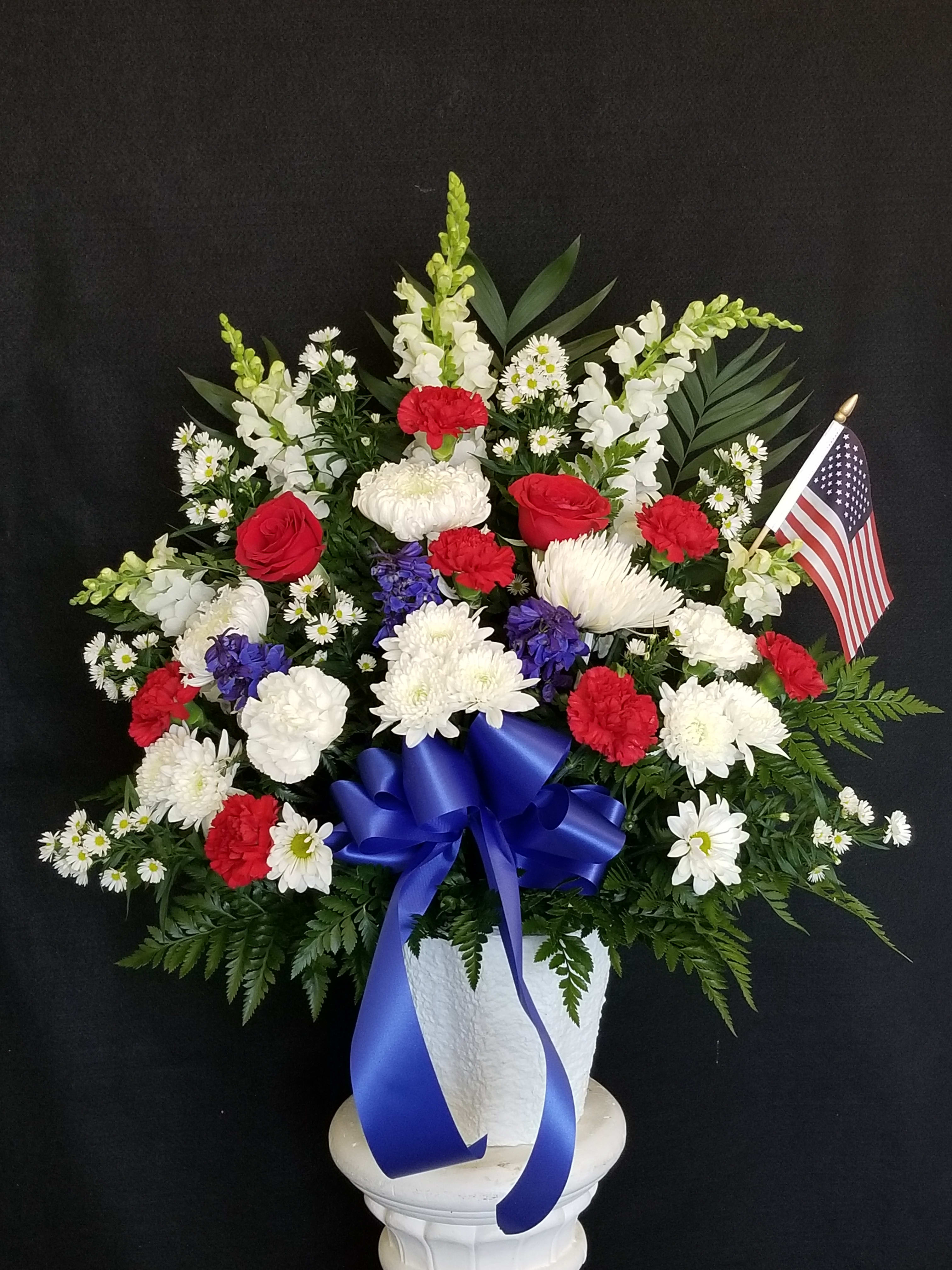 Red White And Blue Basket In Brockton Ma Atlantis Flowers Gifts