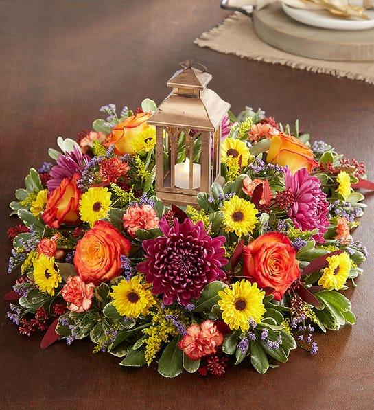 Brilliant Autumn Centerpiece In Las Vegas Nv M C Gardens Florist