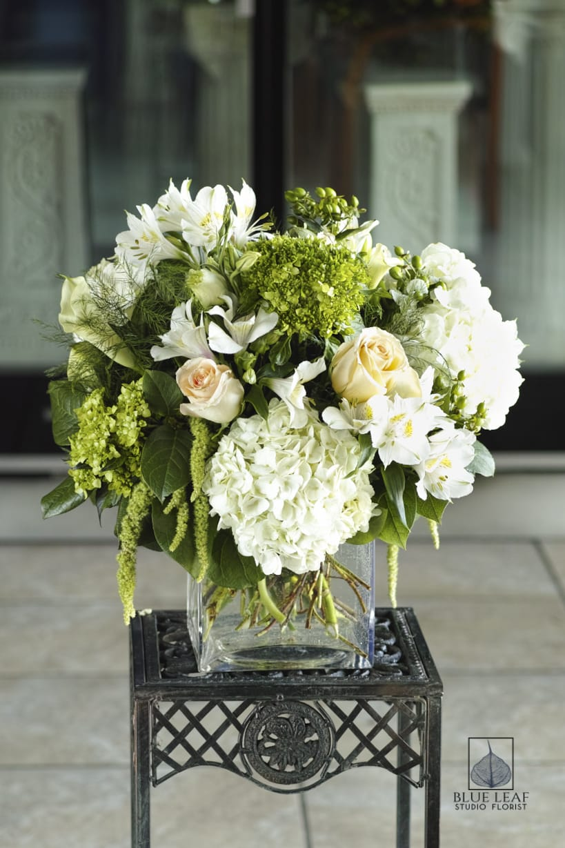 Hydrangea Cube Bouquet By Blue Leaf Studio Florist