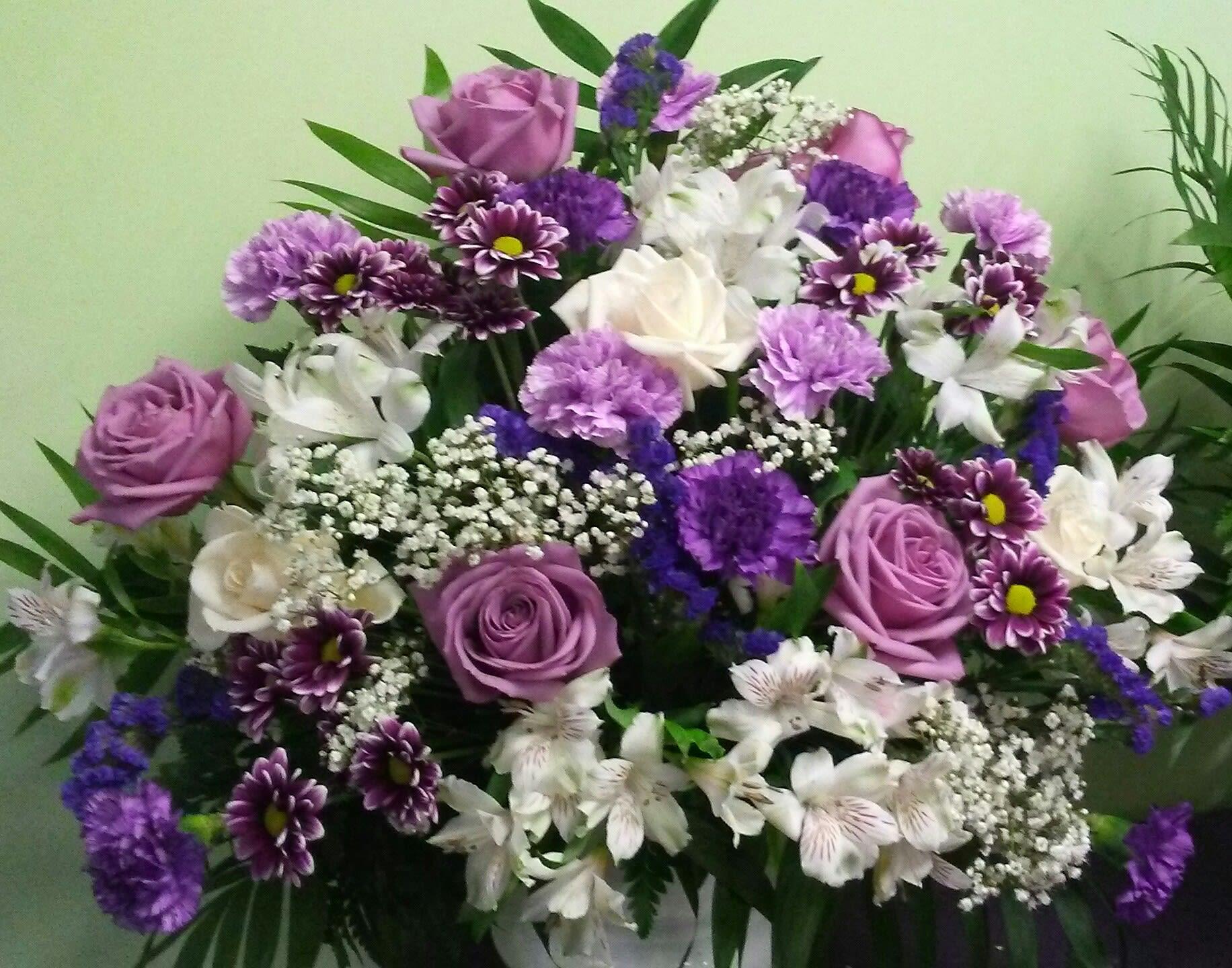 Lavender And White Rememberance By Philadelphia Flower Market
