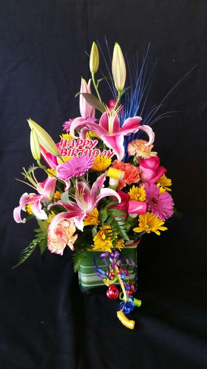 Happy Birthday Arrangement Kern Park Flower Shoppe By Kern Park Flower Shoppe