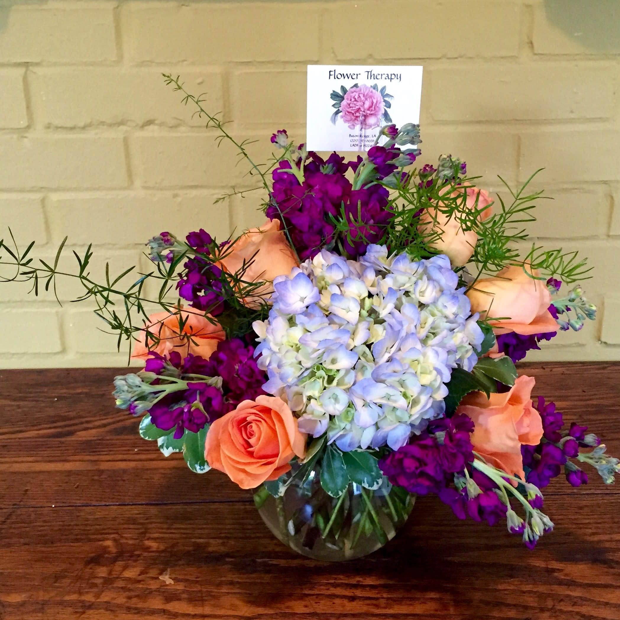 Bright Bubble Bowl In Baton Rouge La Flower Therapy Florist