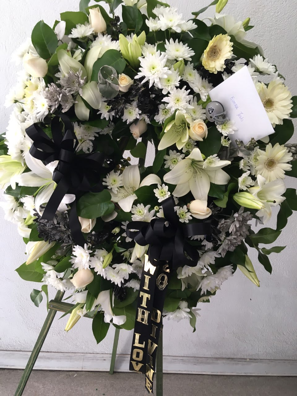 RAIDERS COLORS WREATH by FLOWERS PRONTO