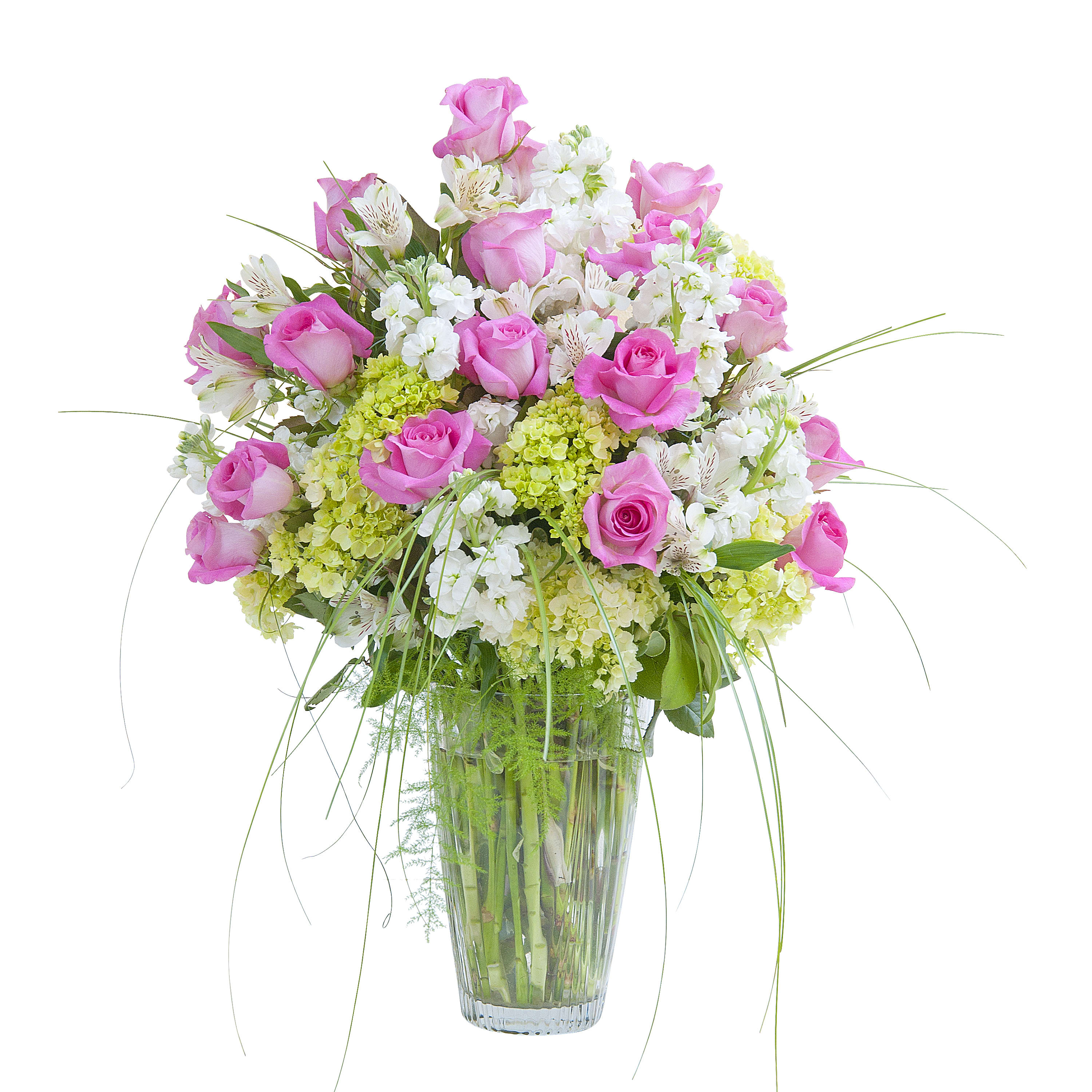Pink And White Elegance Vase In Westwood Nj Tyrrells Flowers And Gifts