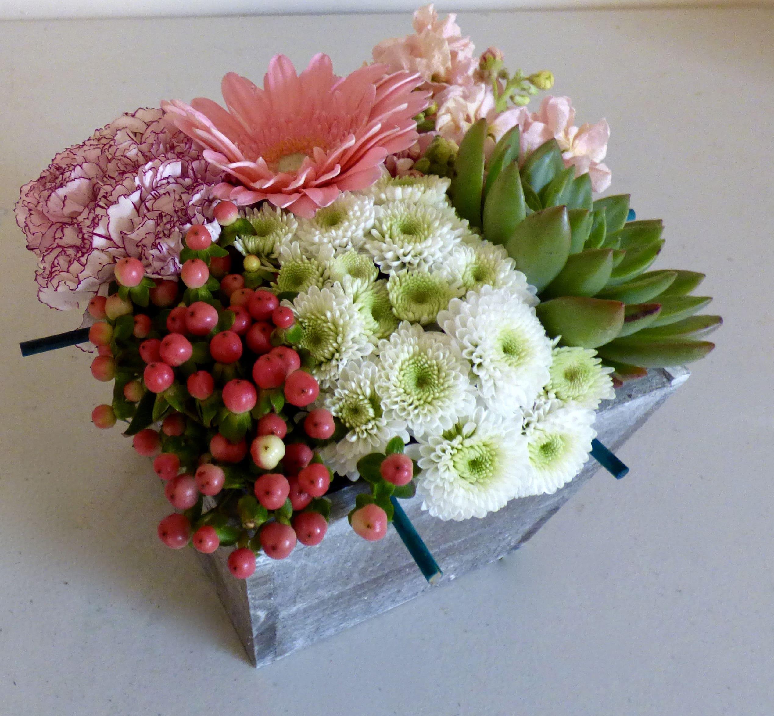 Medium Flower Bento Box In Riverton Ut Just Add Flowers