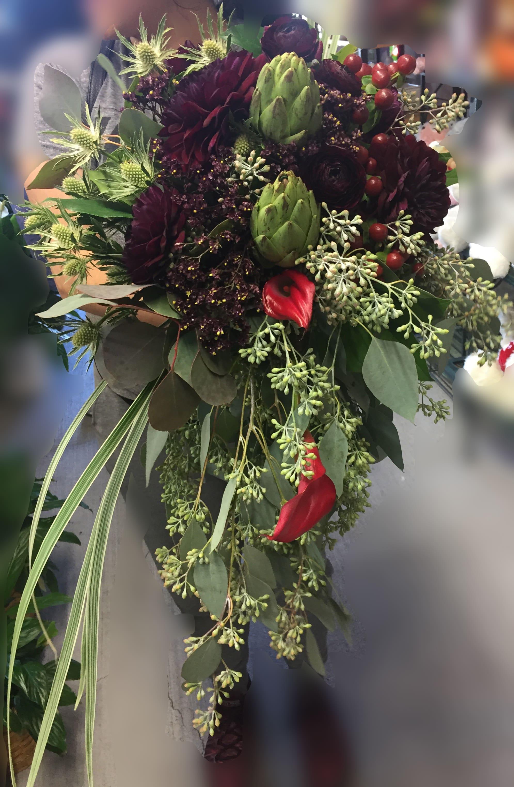 Autumn Woodlands Bridal Bouquet In San Jose Ca Valley Florist