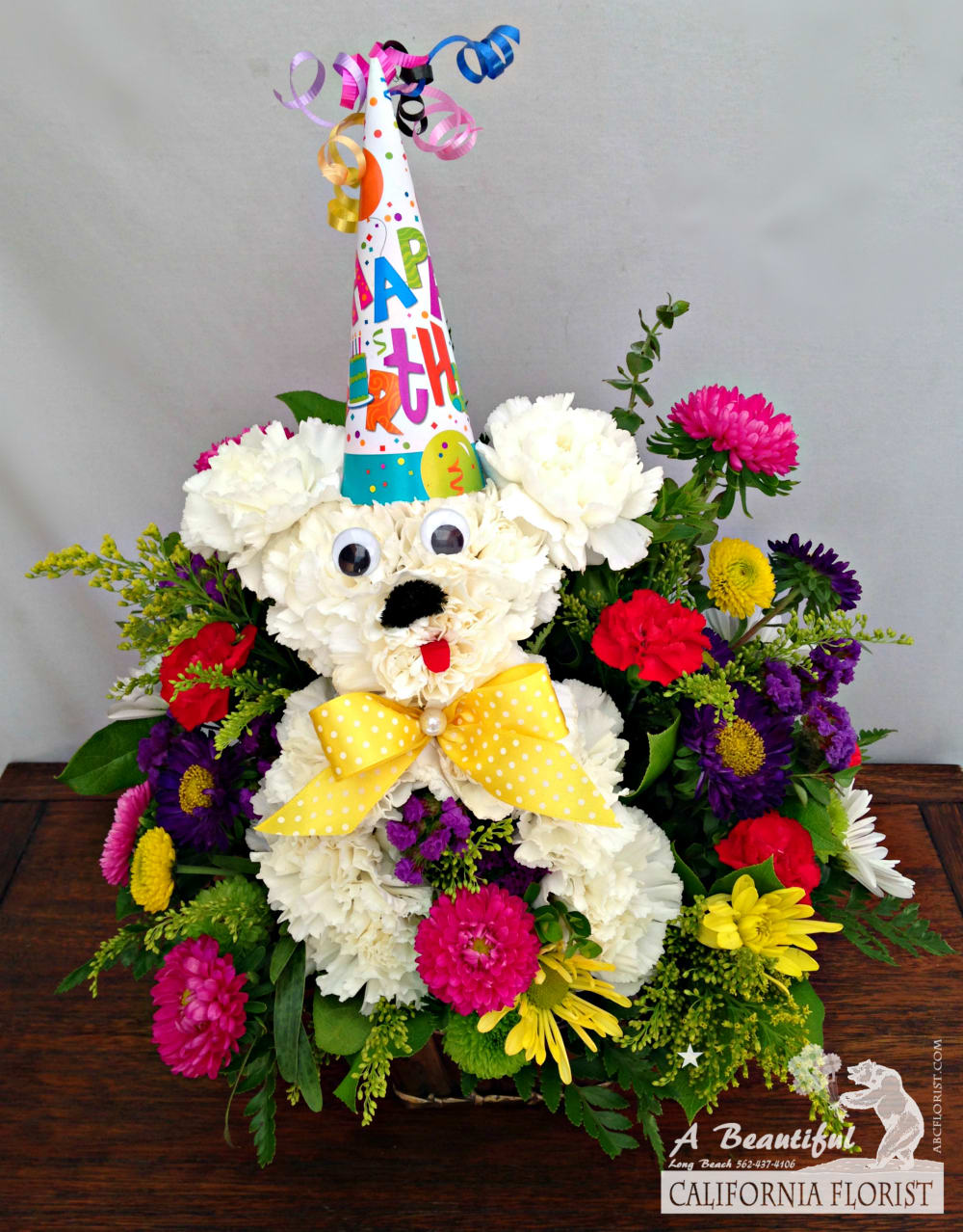 Woof Woof Happy Birthday Birthday Flower Arrangements From Abc Florist Long Beach By A Beautiful California Florist