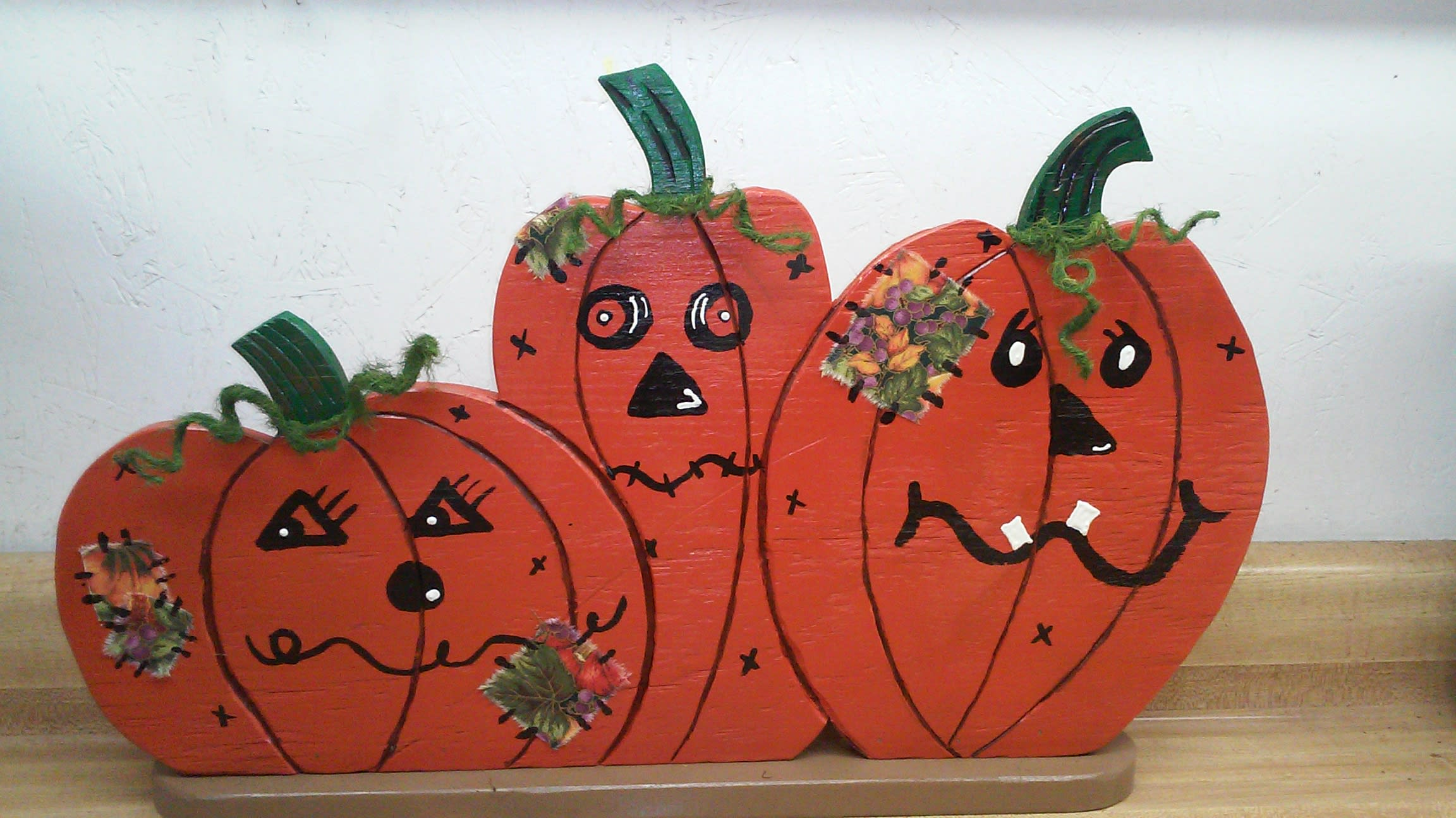 Variety Of Handcrafted Wooden Pumpkins In Wamego Ks The Flower Mill