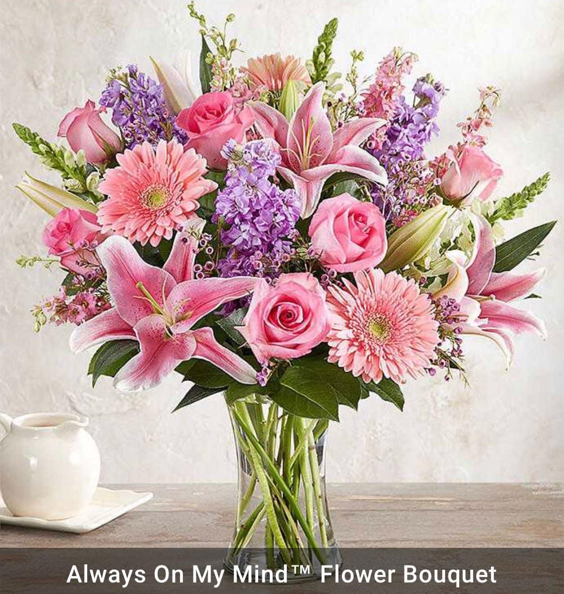 Always On My Mind Flower Bouquet In Whitinsville Ma The Flower Shop