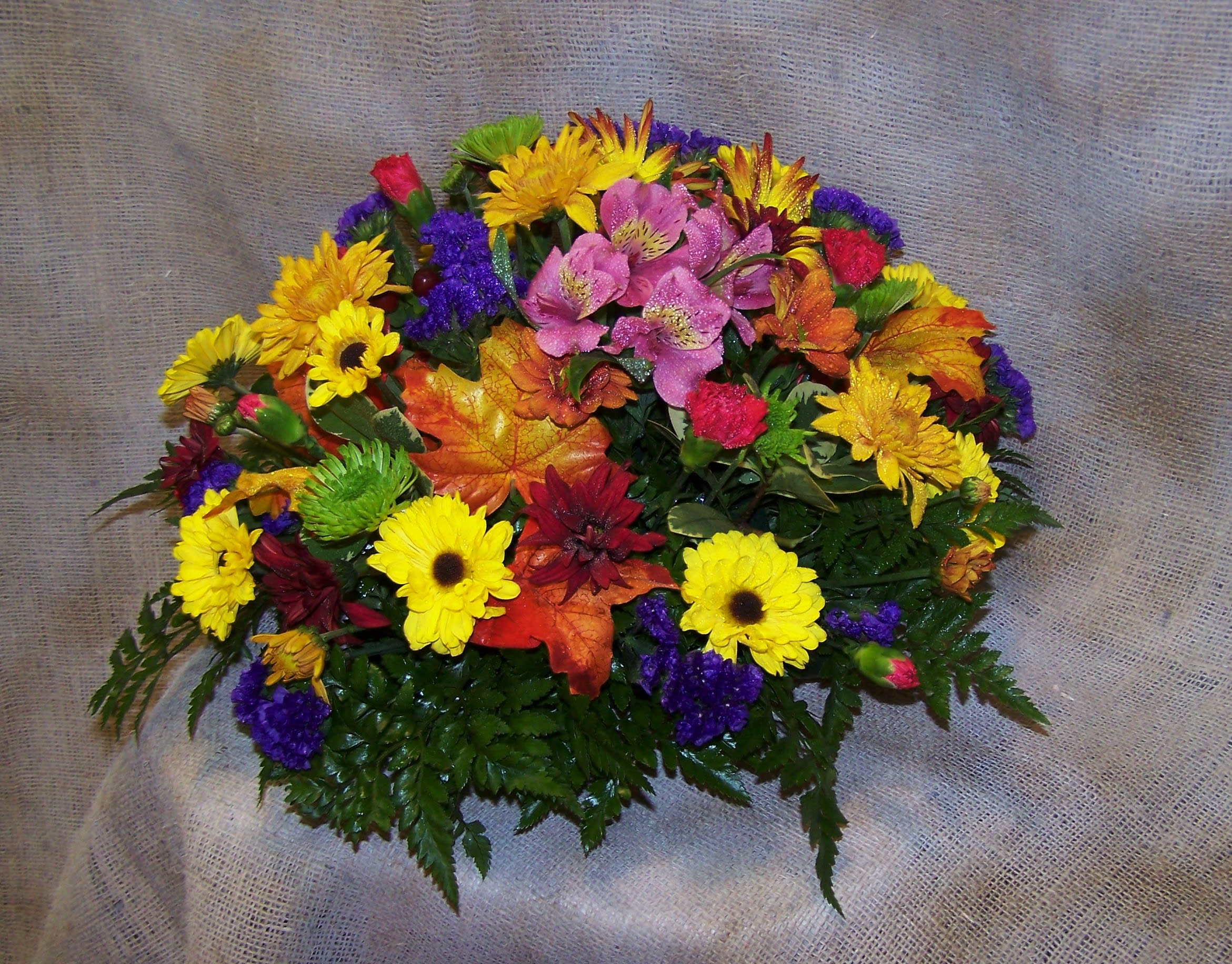 Colorful Round Table Centerpiece By Bellevue Florist