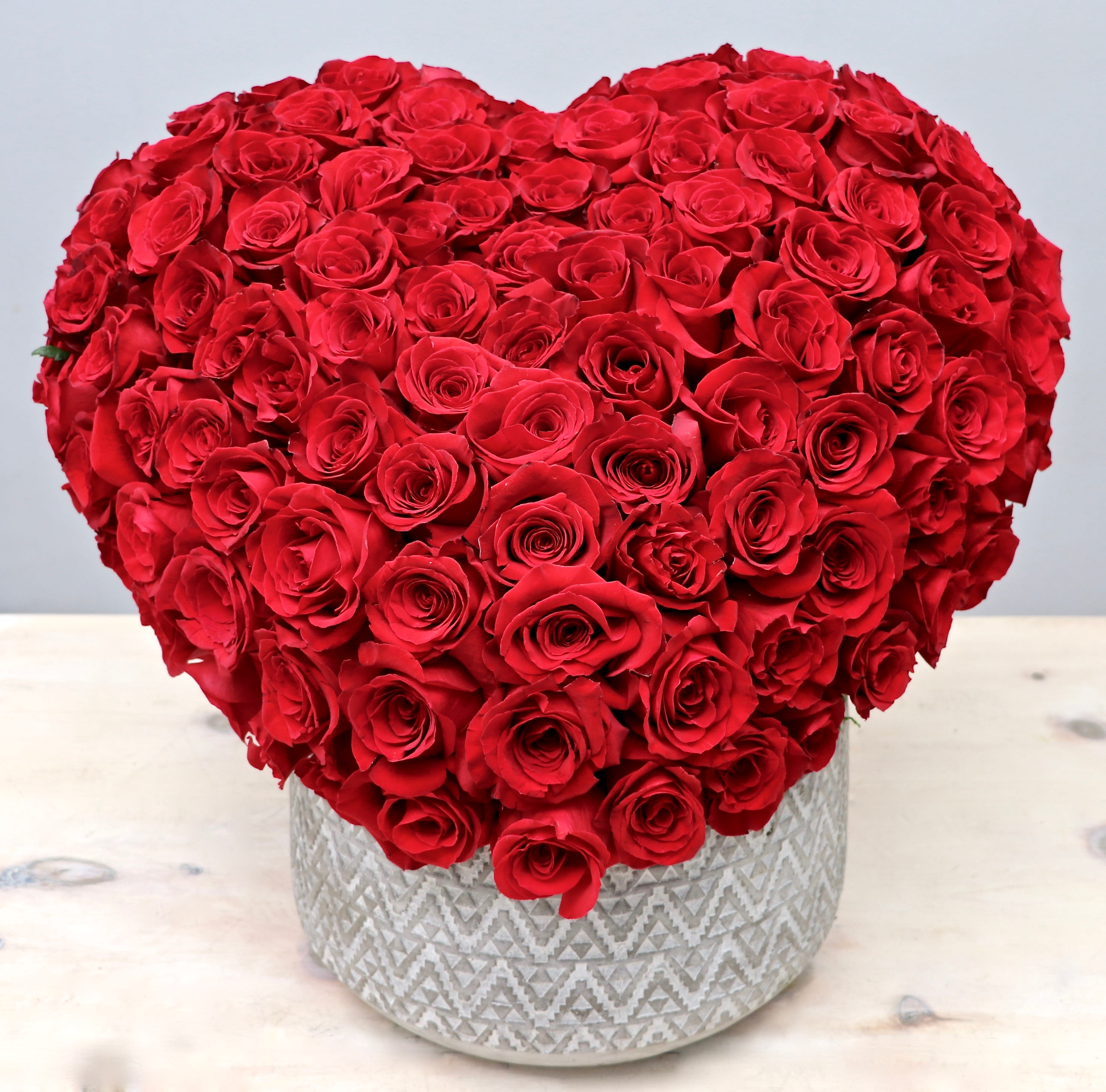 Heart Valentine West Hollywood Flowers By West Hollywood Flowers