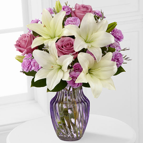 Lavender Twilight Mixed Flower Bouquet Vase May Vary In Redmond Or Every Bloom N Thing