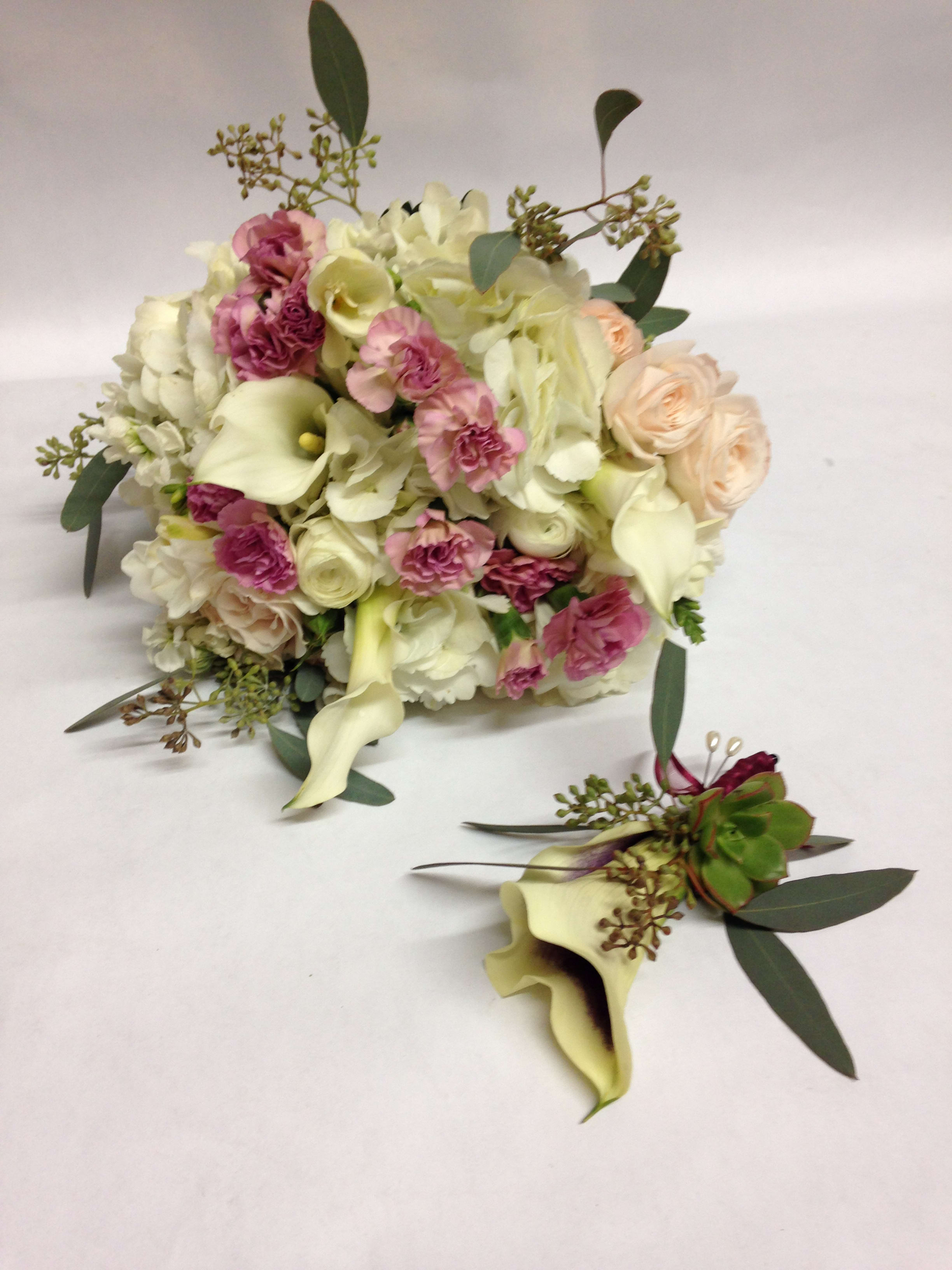 Affectionate And Blush Bridal Bouquet Boutinierre Duo Pre Order By Flowers Of The Valley