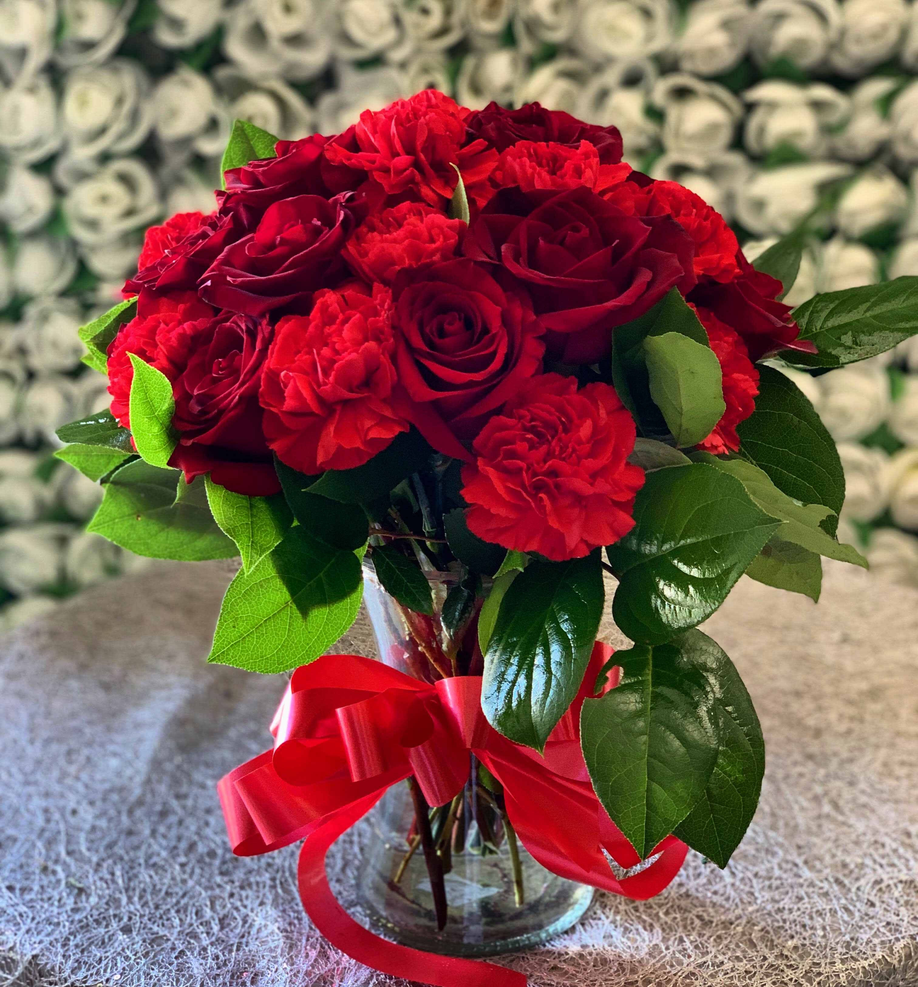 Ruby Red Rose Bouquet In Encino Ca Spring Flowers
