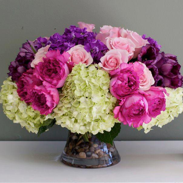 Roses Peonies And Hydrangeas Cedar Sinai Florist In Hollywood Ca Lefleur Vase