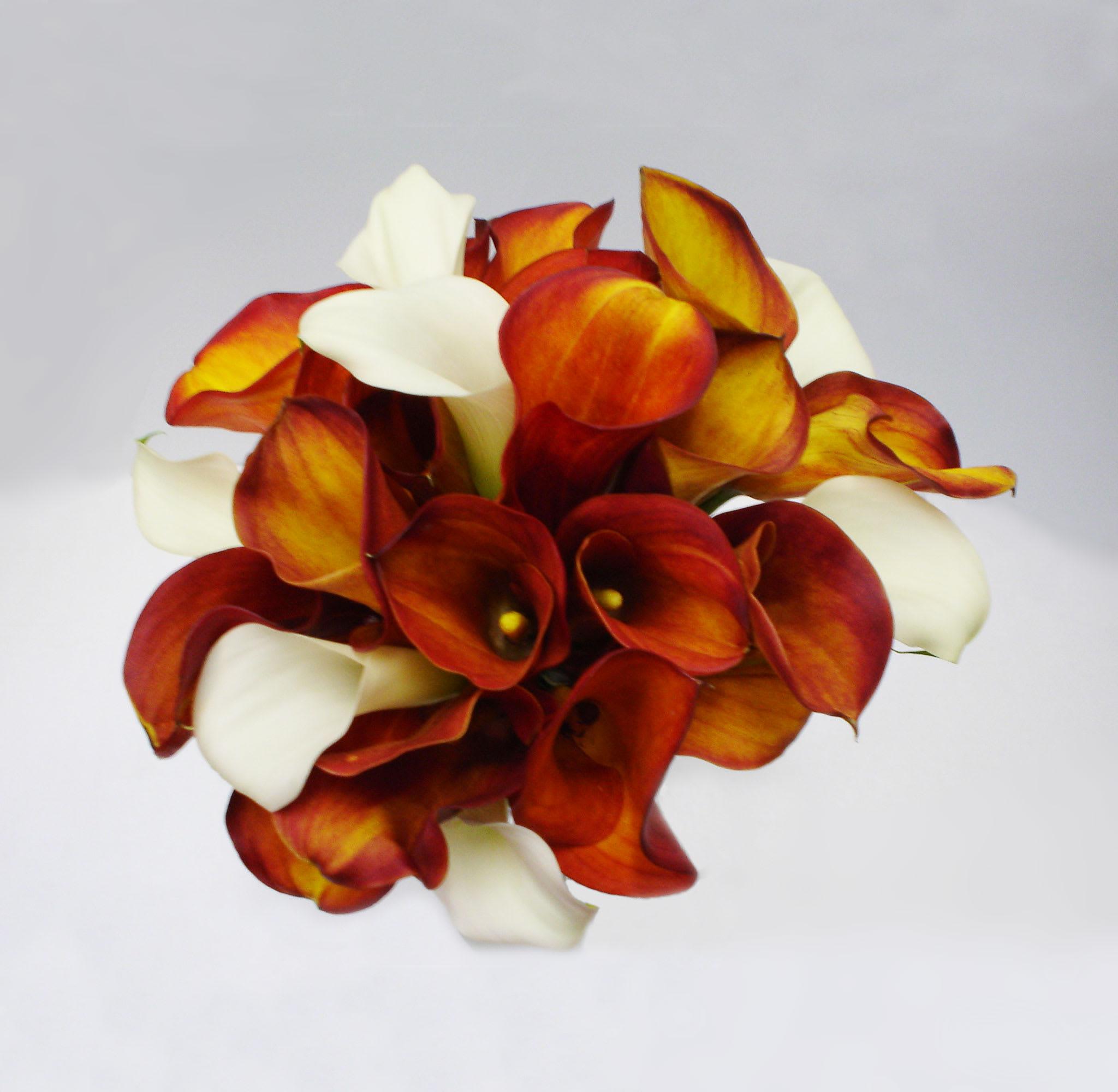 Orange Calla Lily Bouquet In San Jose Ca Valley Florist