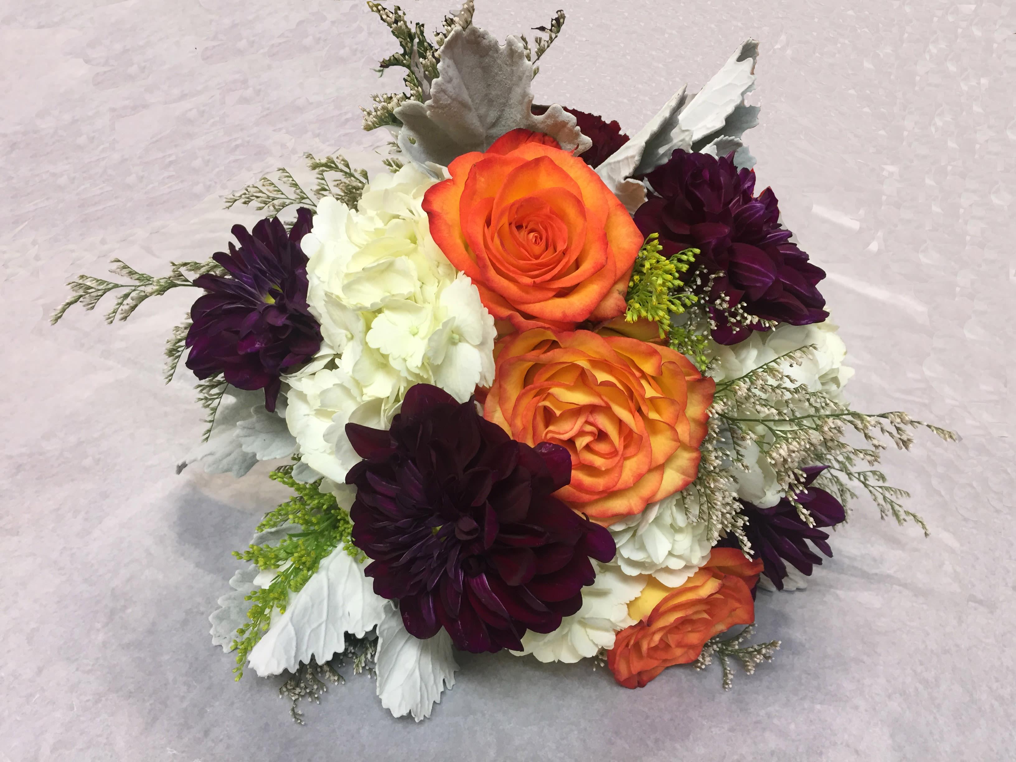Fall Color Wedding Bouquet In San Jose Ca Valley Florist