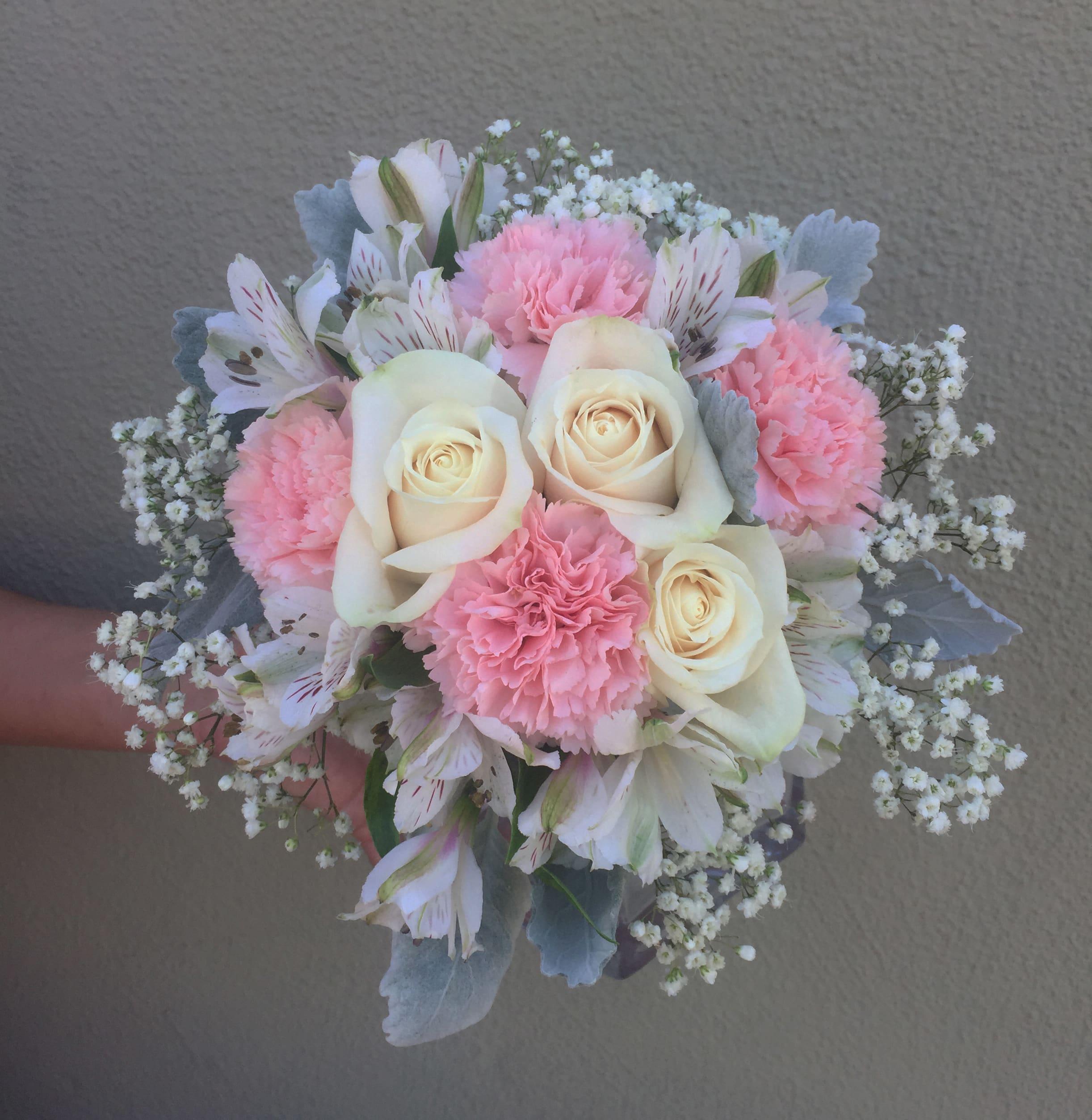 Simple Pink Bouquet In San Jose Ca Valley Florist
