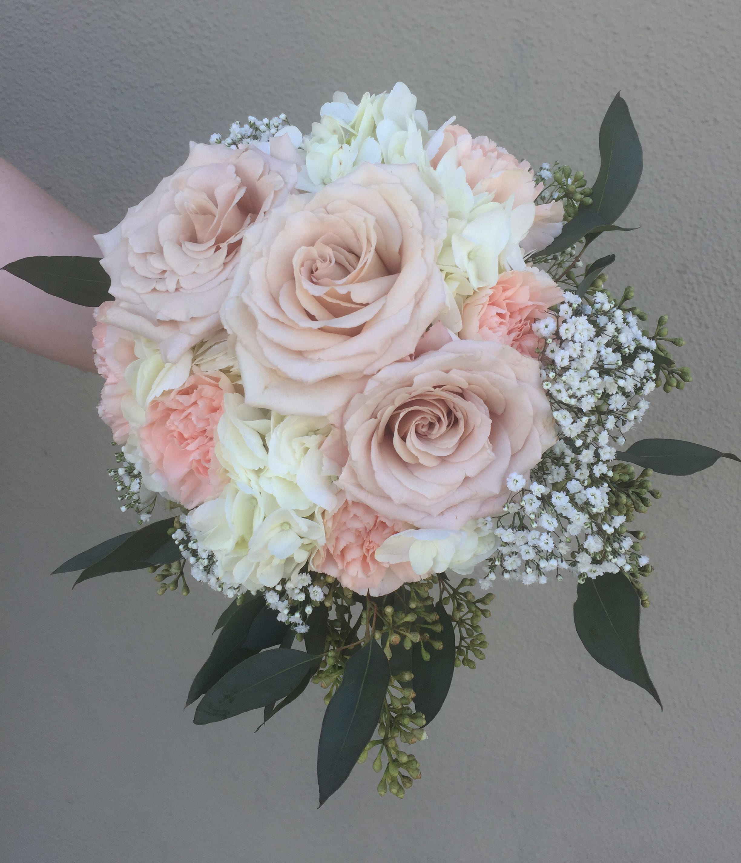 Hydrangea Roses And Carnations Bouquet In San Jose Ca Valley Florist