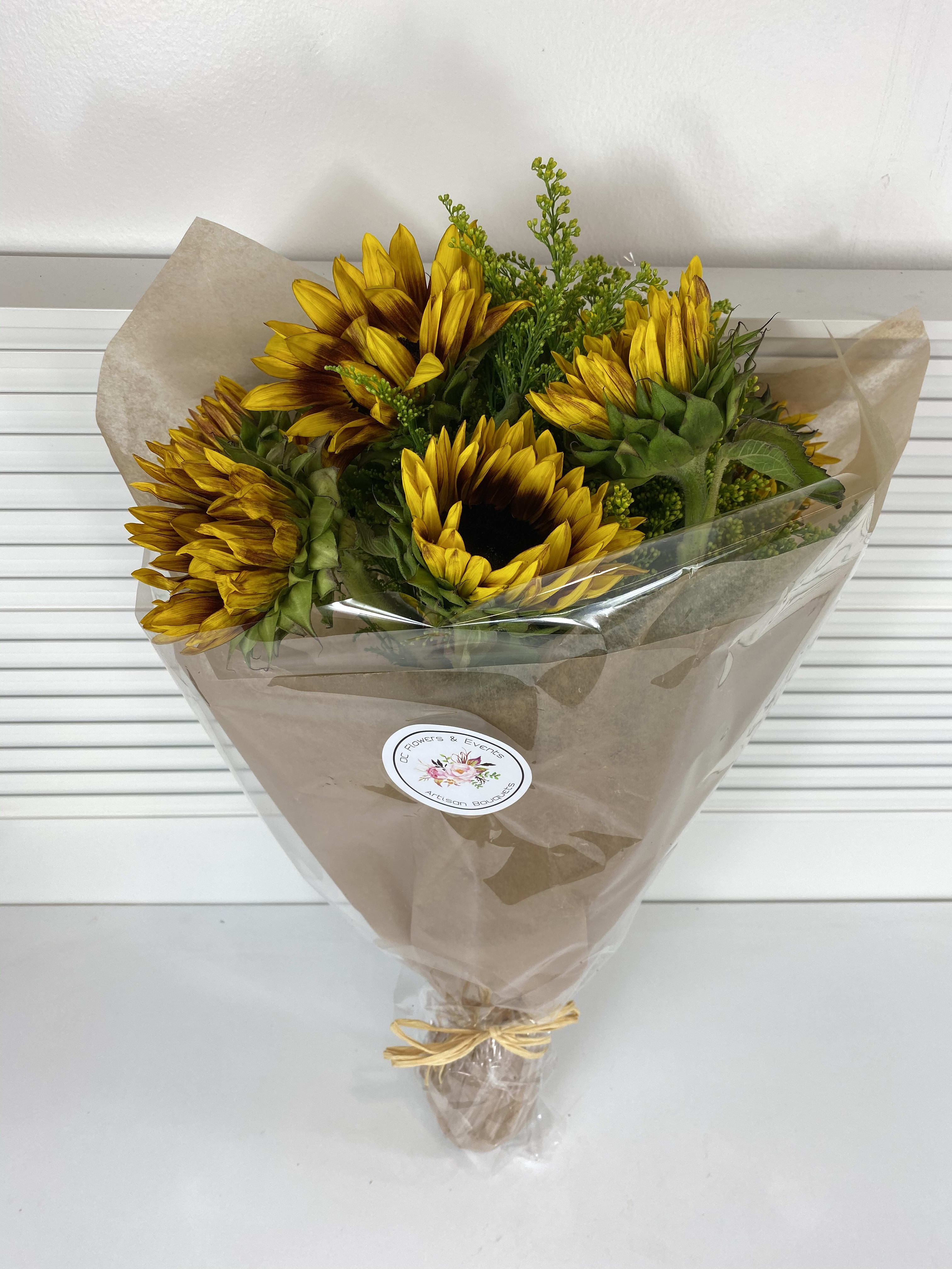 Dozen Sunflowers Bouquet In Irvine Ca Oc Flowers And Events