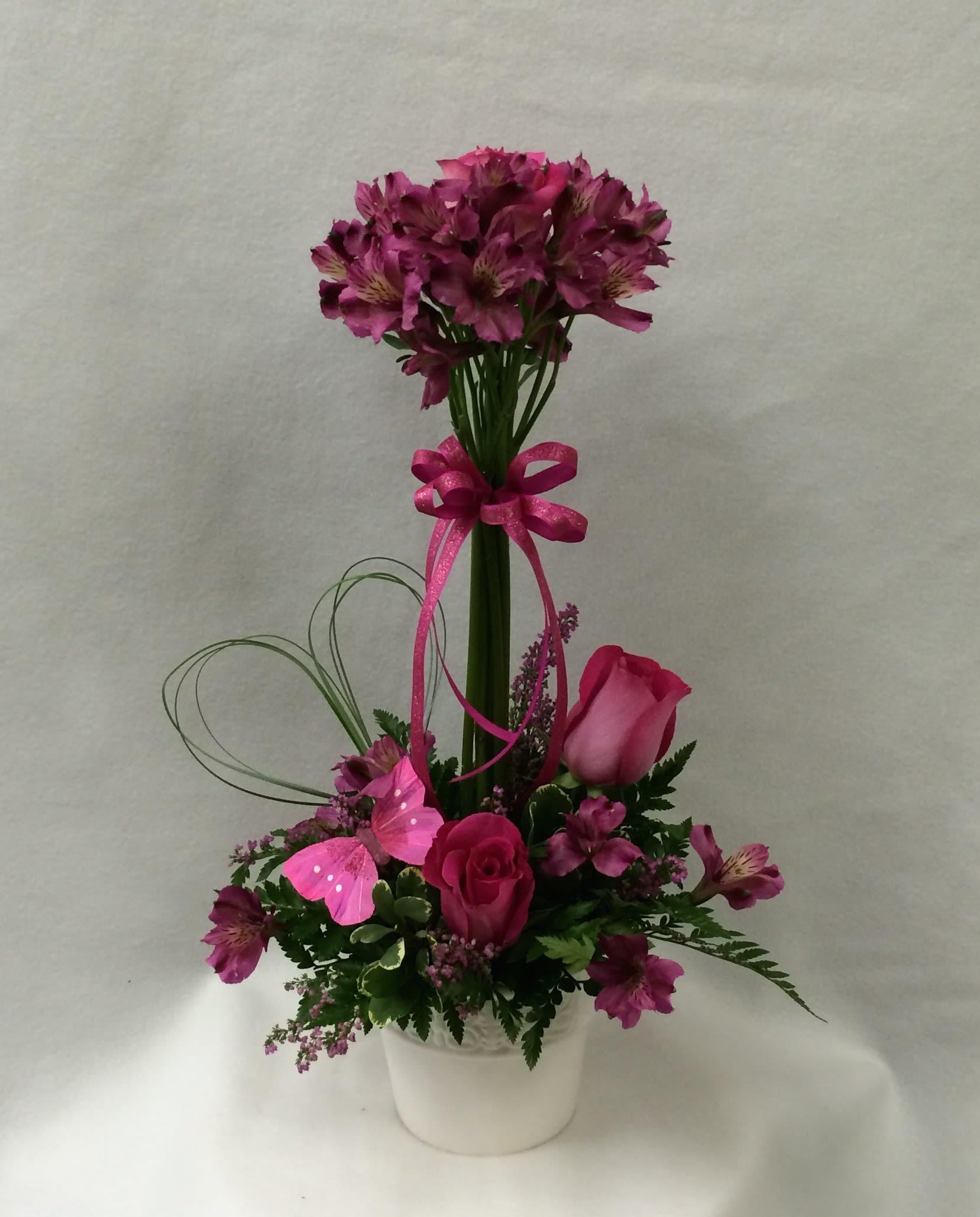 Alstroemeria Topiary In Charleston Il Noble Flower Shop