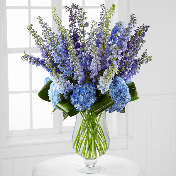 Honestly Luxury Delphinium Hydrangea Bouquet In San Francisco Ca My Flower Shop