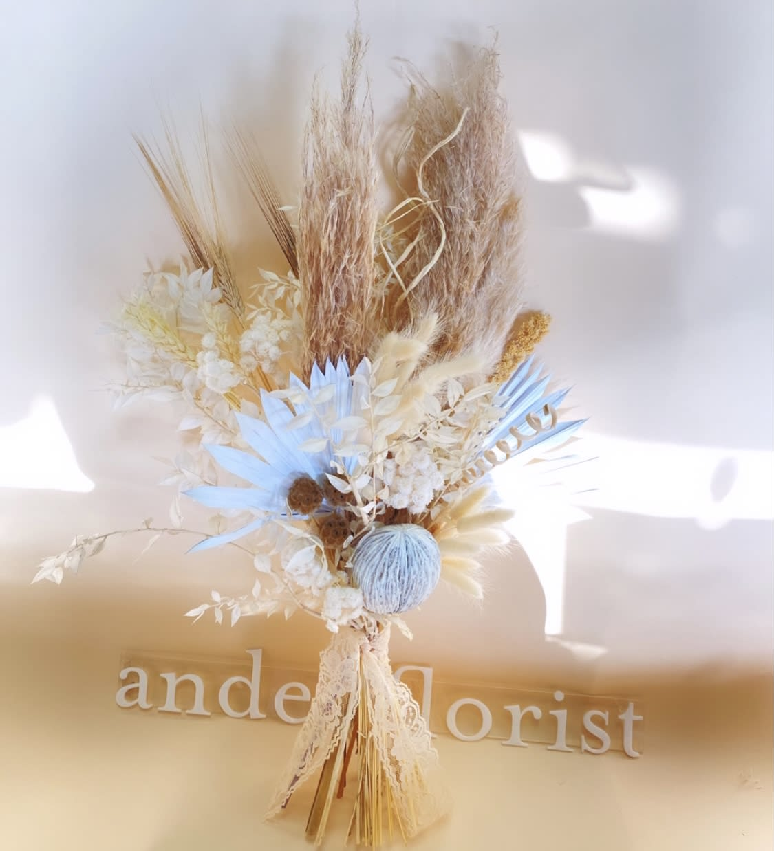 Dried Floral Bouquet Neutral In Torrance Ca Andes Florist