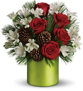 Teleflora Christmas Catalog 2021 Teleflora S Christmas Cheer Bouquet In Cocoa Fl Blossoms Of Love Florist Gifts
