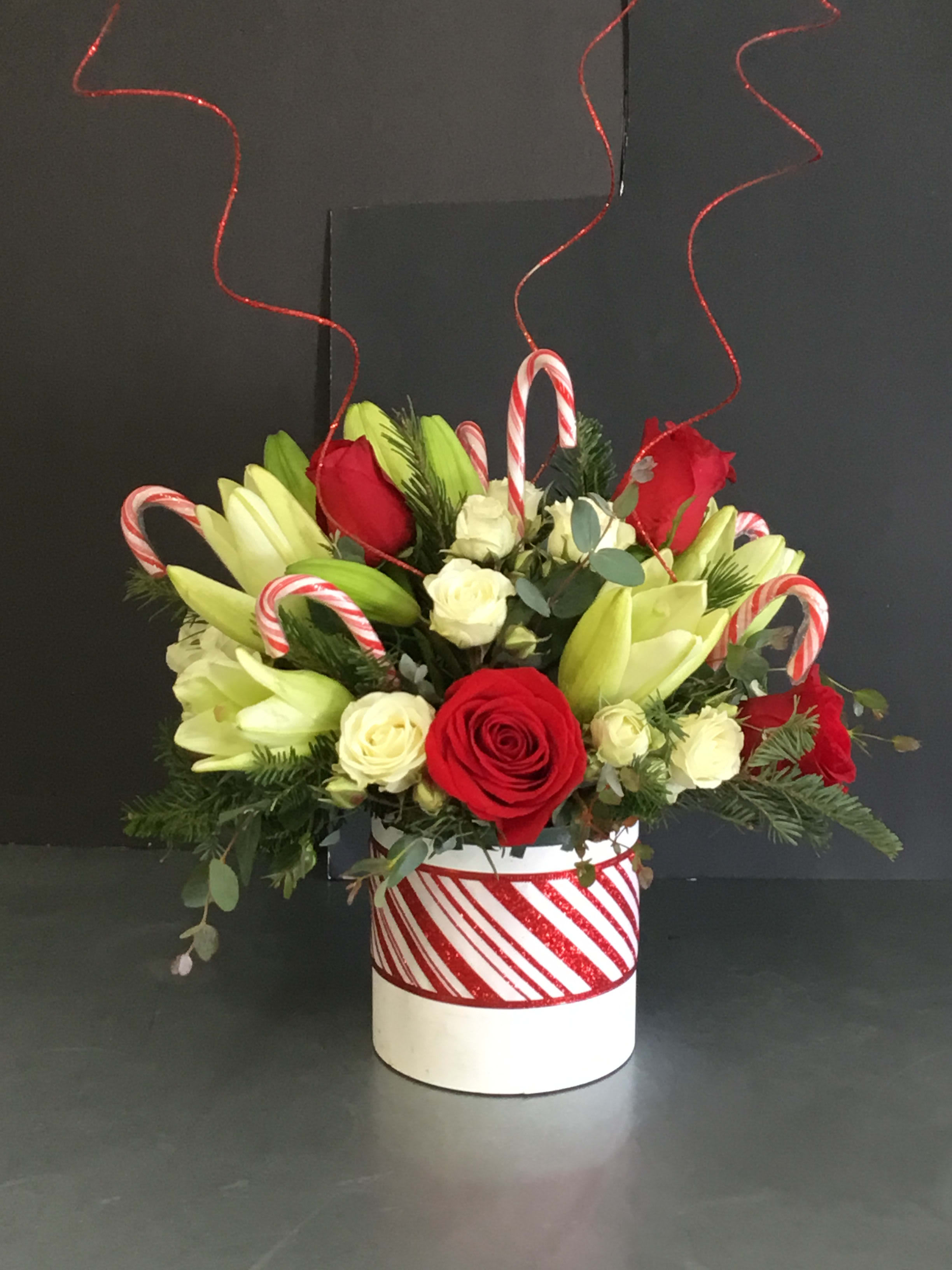 Holiday Candy Cane Bouquet In Albuquerque Nm Duke City Floral