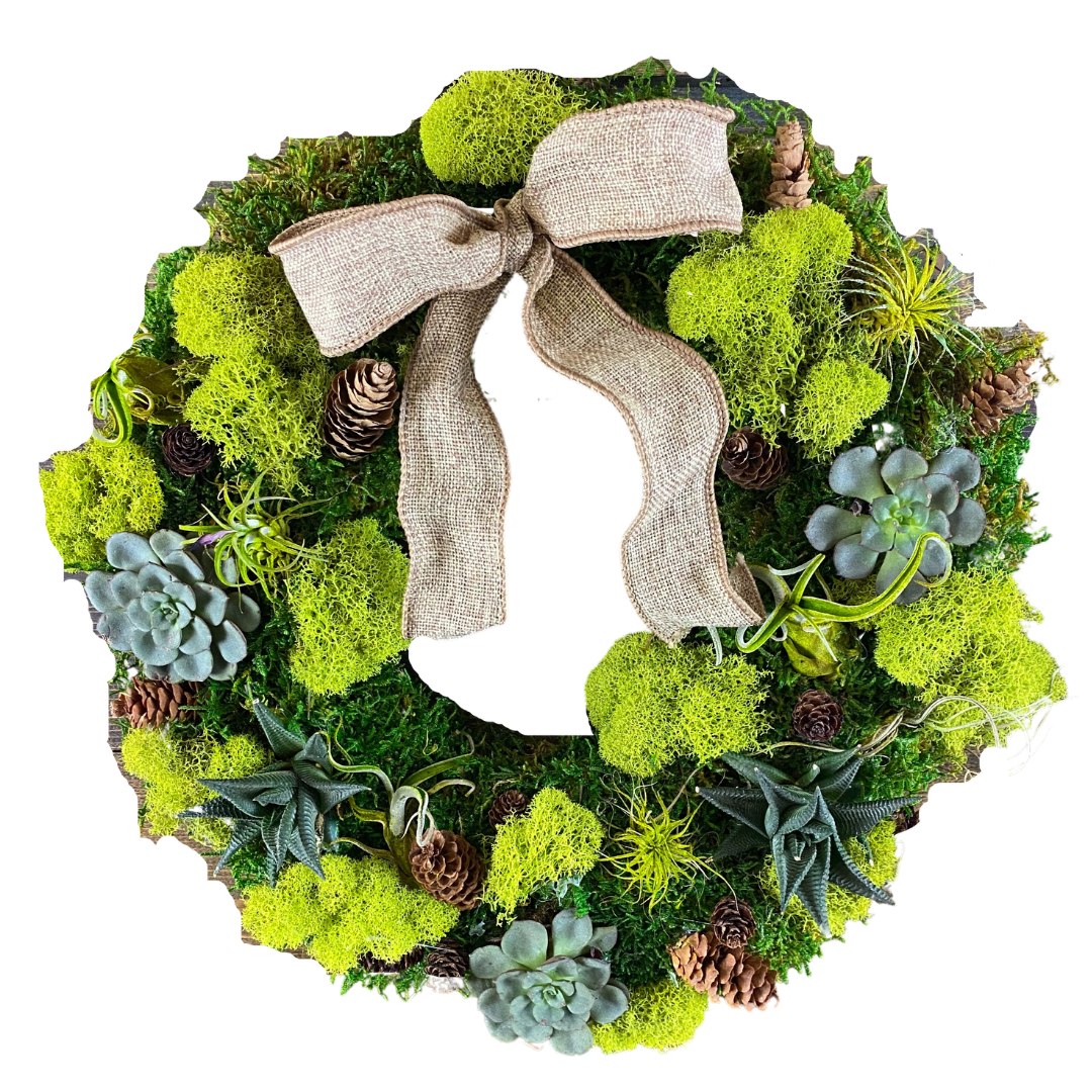 Warm Welcome Succulent Wreath In Cleveland Oh Plantscaping Blooms