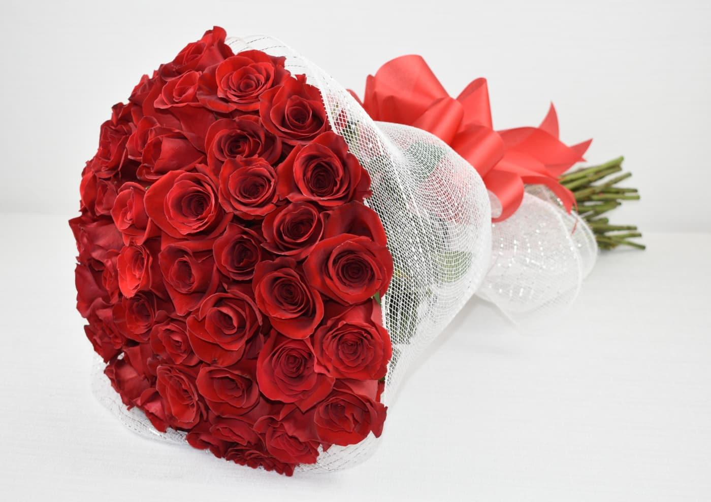 50 Red Roses In Los Angeles Ca Sebas Flowers