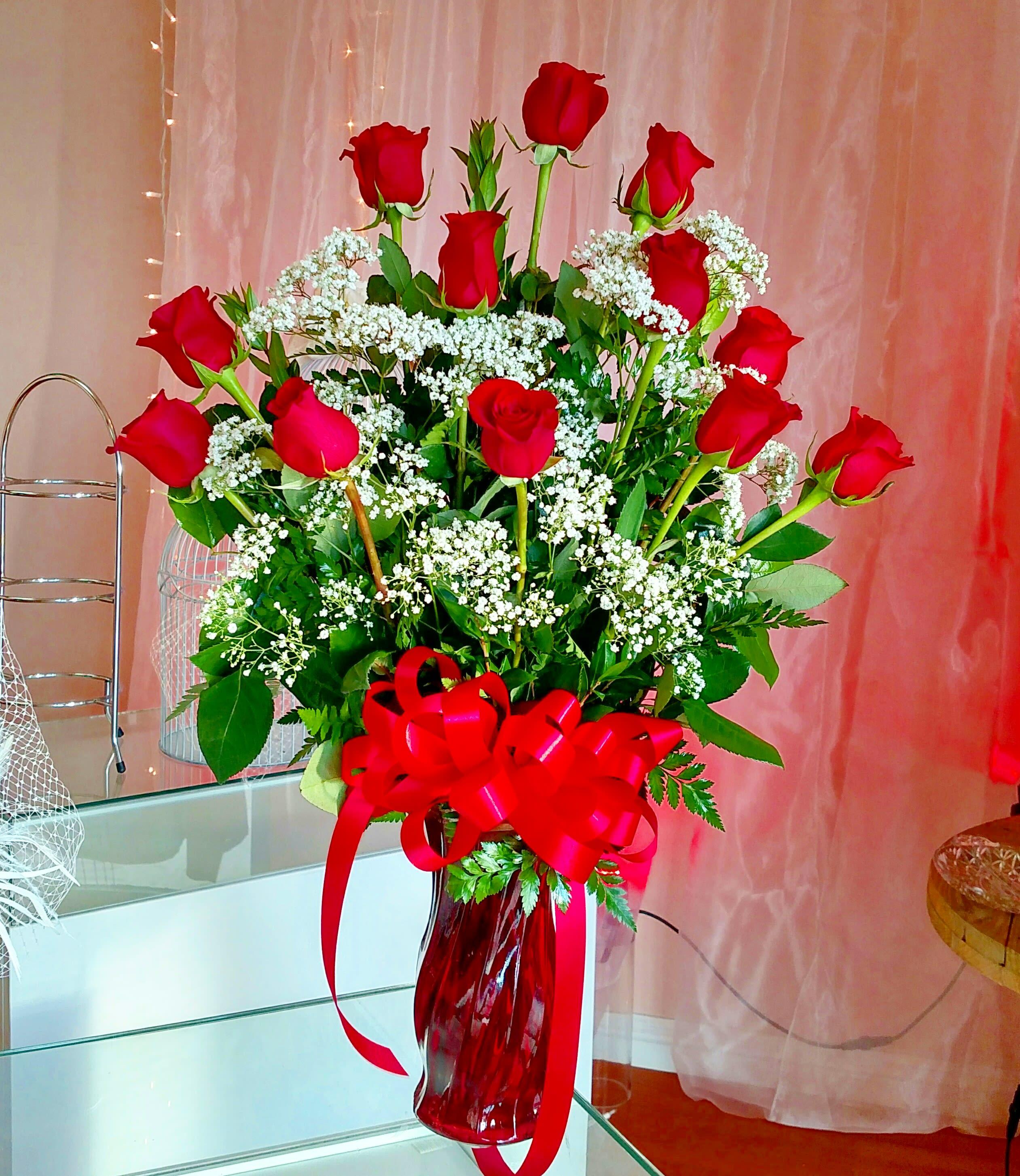 1 Dozen Red Rose Bouquet In Downey Ca Chita S Floral Designs