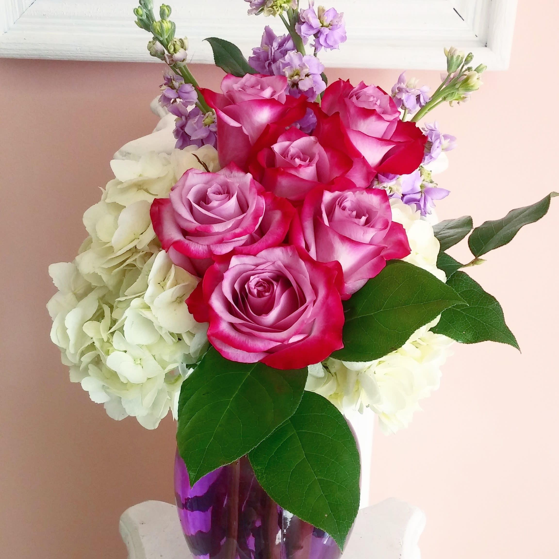 Deep Purple Rose Bouquet By Chita S Floral Designs